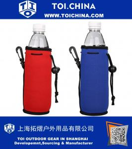 Collapsible Neoprene Water Bottle Drawstring Cooler
