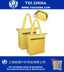 Insulated Cooler Bag and Grocery Bag with Carrying Pouch