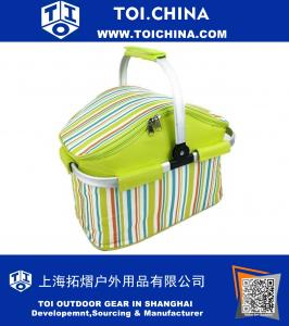 Insulated Folding Cooler Picnic Basket Bag Thermal Tote Lunch Bag