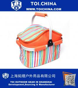 Insulated Folding Cooler Picnic Basket Bag Thermal Tote