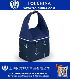 Insulated Lunch Bag Cooler Tote with Food Grade Compartment for Work Office School Outdoor, Anchor Shap