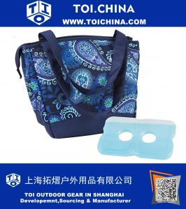 Insulated Lunch Bag with Ice Pack, Stylish Cooler Bag