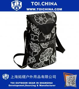 Insulated Wine Water Bottle Tote with Shoulder Strap