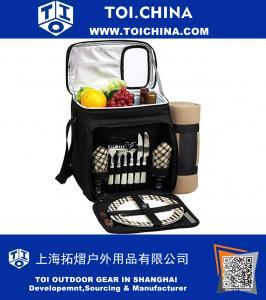 Picnic Cooler For Two with Blanket