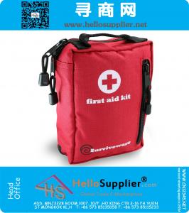 Small First Aid Kit Best for Hiking, Backpacking, Camping, Travel, Car & Cycling. Waterproof Laminate Bags